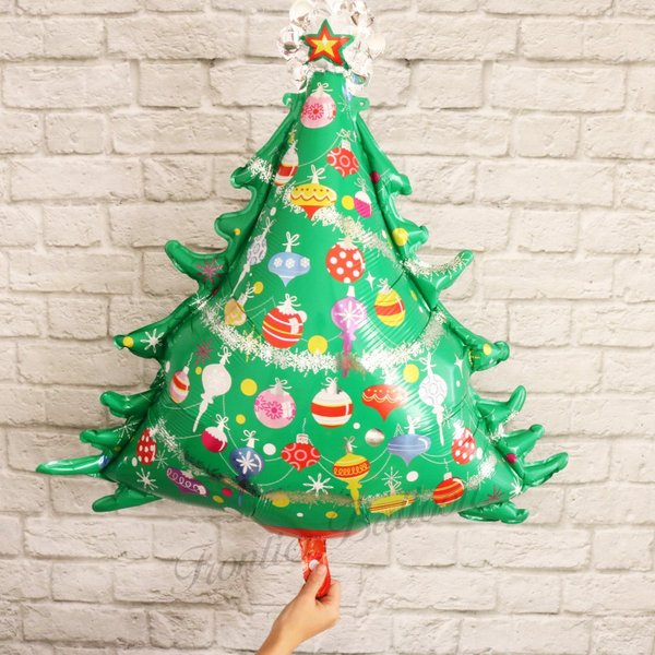 Christmas Tree Balloon.Christmas Tree Balloon Balloon Aluminum Balloon Stylish Decoration Miscellaneous Goods Party Surprise Event ぺたんこ Delivery