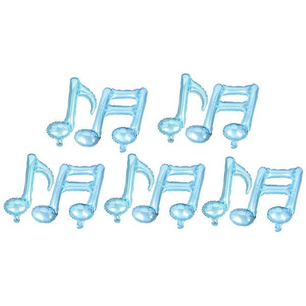 音符 バルーン 風船 発表会 演奏会 ライトブルー 単色 ピアノバイオリン お祝い パーティー 音楽 期間限定特価品 結婚式 デコレーション ぺたんこ配送 セット 上品 誕生日