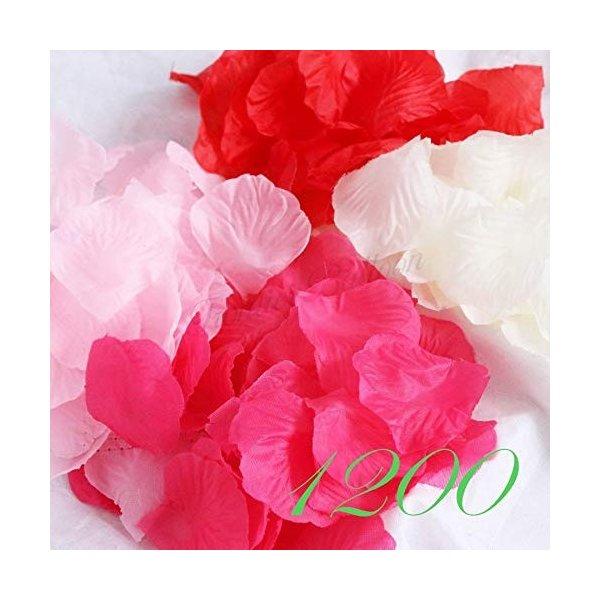 フラワーシャワー 花びら NEW ARRIVAL フラワーペタル ウエディング 4色ミックス 1200枚 ブーケ 結婚式 国内発送 当店一番人気 二次会 誕生日 前撮り 造花