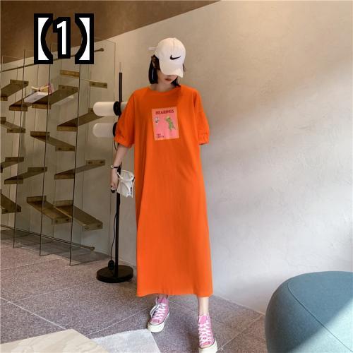 限定品 予約販売5~8営業日での発送 プラス ファット サイズ 安全 妊婦 用 シャツ サマー ルーズ ニー タイド コットン 半袖 ロング ママ カジュアル オーバー ドレス