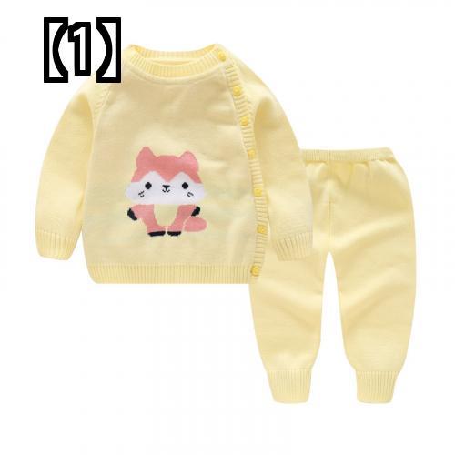【予約販売5~8営業日での発送】 ベビー ニット セーター セット アップ 子供服 女の子 男の子 アニマル 動物