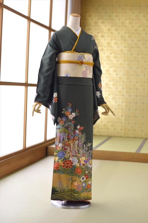 【レンタル】訪問着 広巾 フルセット トールサイズ 大きいサイズ