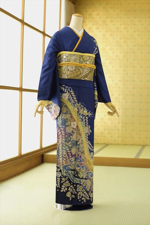 【レンタル】訪問着 フルセット トールサイズ 広巾 大きいサイズ