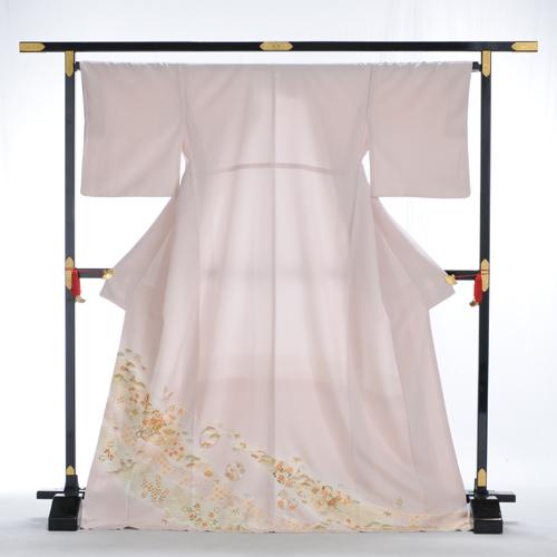 色留め袖 レンタル 色留袖 高級正絹 大きいサイズ Lサイズ 着物レンタル 結婚式 親族 列席者 貸衣装 フルフル お呼ばれ 叙勲