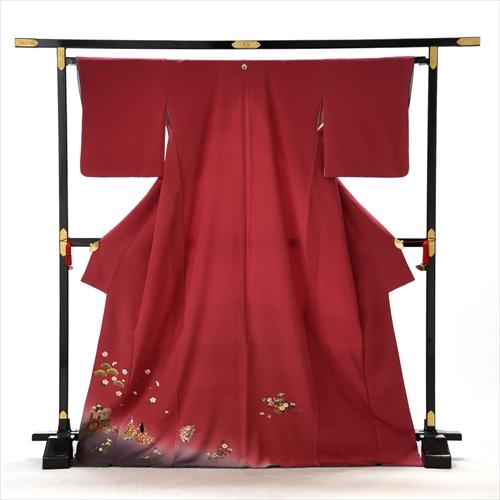 色留め袖 レンタル 色留袖 着物レンタル Lサイズ 大きいサイズ 結婚式 親族 列席者 貸衣装 フルフル フォトブック付 お呼ばれ
