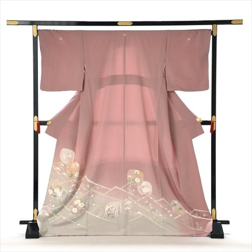 【高級正絹】着物レンタル 色留め袖 レンタル 色留袖 結婚式 親族 列席者 貸衣装 フルフル フォトブック付 お呼ばれ