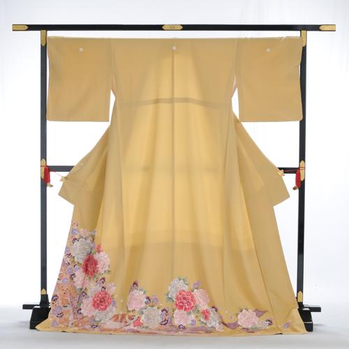 【レンタル】色留袖色留袖 レンタル mit2056 〔色留袖〕