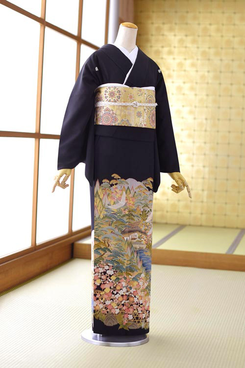 留袖 レンタル フルセットレンタル 高級正絹 着物レンタル 黒留袖 結婚式 母親 母上 親族 列席者 貸衣装 安い かしいしょう おすすめ