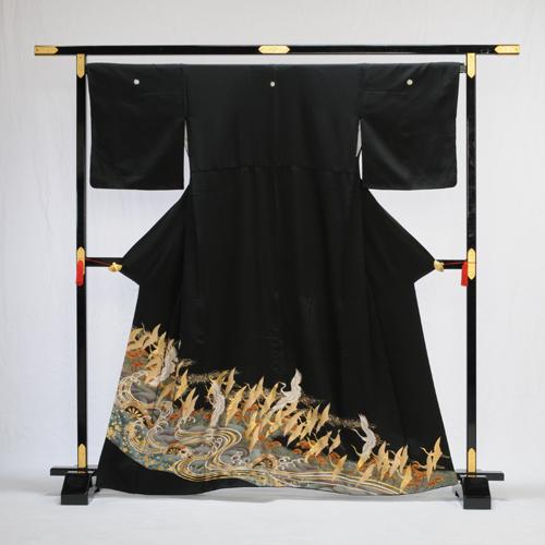 留袖 レンタル Lサイズ フルセットレンタル 留袖レンタル 黒留袖レンタル ひろはば 広幅 広巾 大きいサイズ 高級正絹 着物 結婚式 母親 母上 親族 列席者 貸衣装 かしいしょう 安い おすすめ