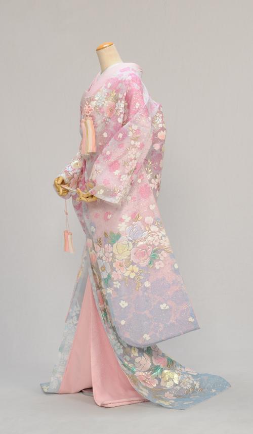 レンタル フルセットレンタル オーガンジー打掛 色打掛レンタル 打ち掛け 花嫁衣裳 着物 結婚式 花嫁和装 貸衣装 フルフル かしいしょう