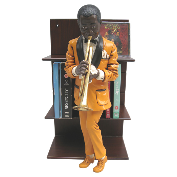 FRPオブジェ 哀愁のトランペット 置物 人物 人形 像 音楽 楽器 店舗 イベント ディスプレイ 実物大 等身大 リアル