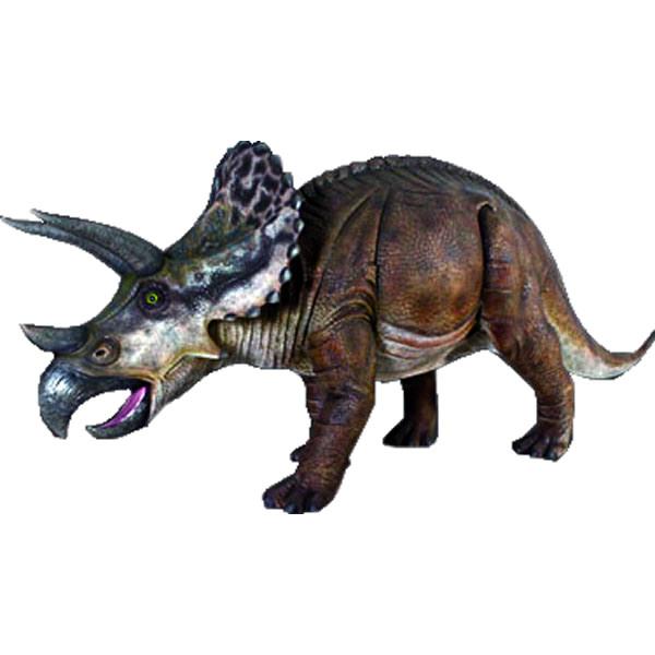 FRP恐竜オブジェ トリケラトプス 置物 白亜紀 草食恐竜 角竜類 標本 博物館 店舗 イベント ディスプレイ 実物大 等身大 リアル 【whlny】