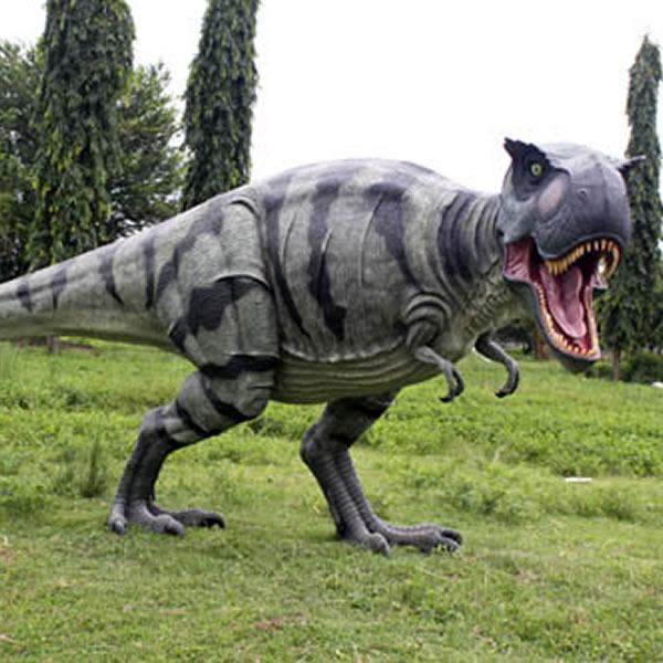 FRP恐竜オブジェ 歩くティーレックス 置物 白亜紀 肉食恐竜 獣脚類 ティラノサウルス 標本 博物館 店舗 イベント ディスプレイ 実物大 等身大 リアル 【whlny】