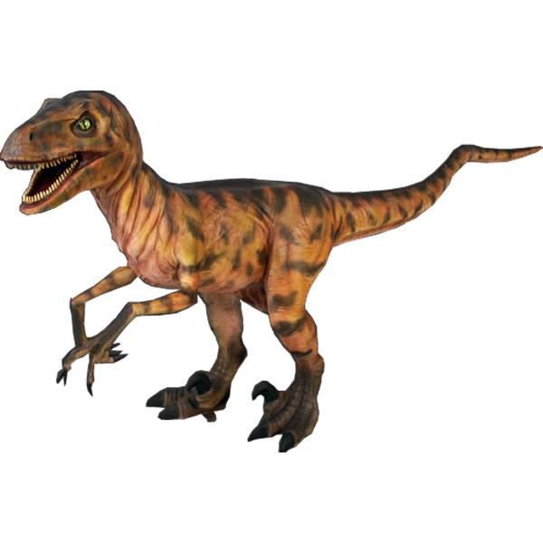 FRP恐竜オブジェ ディノニクス 置物 白亜紀 肉食恐竜 獣脚類 標本 博物館 店舗 イベント ディスプレイ 実物大 等身大 リアル 【whlny】