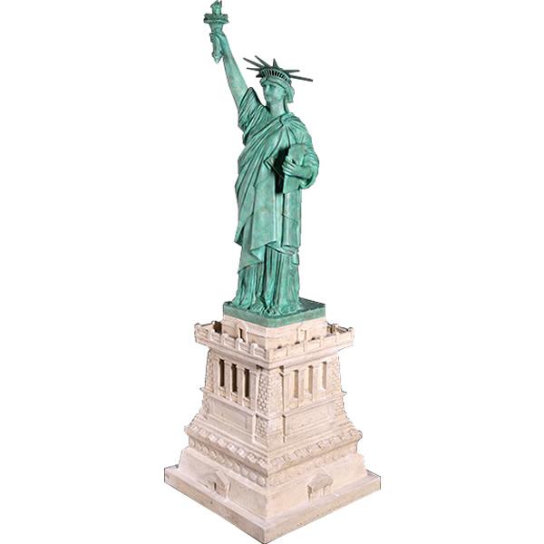 FRPオブジェ 自由の女神(台付き) 置物 人物 人形 像 アメリカ 店舗 イベント ディスプレイ 実物大 等身大 リアル 【whlny】
