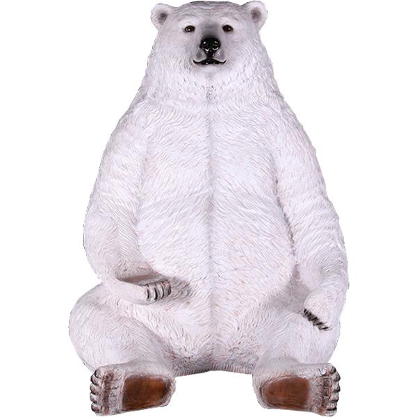 FRPアニマルオブジェ 巨大な白クマ 置物 動物 熊 くま 動物園 店舗 イベント ディスプレイ 実物大 等身大 リアル 【whlny】
