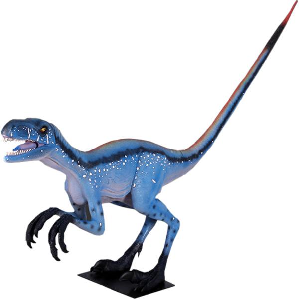 FRP恐竜オブジェ 凶暴なディノニクス 置物 白亜紀 肉食恐竜 獣脚類 標本 博物館 店舗 イベント ディスプレイ 実物大 等身大 リアル 【whlny】