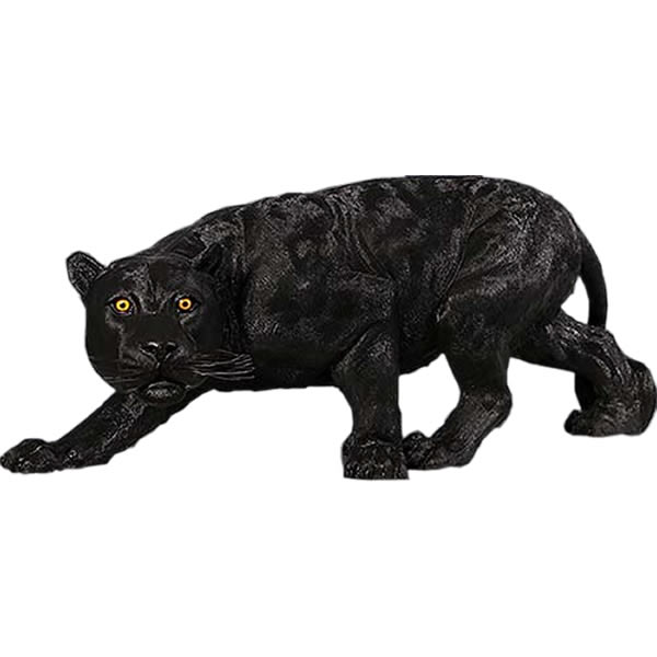 FRPアニマルオブジェ ブラックパンサー 置物 動物 黒豹 クロヒョウ くろひょう 動物園 店舗 イベント ディスプレイ 実物大 等身大 リアル 【whlny】