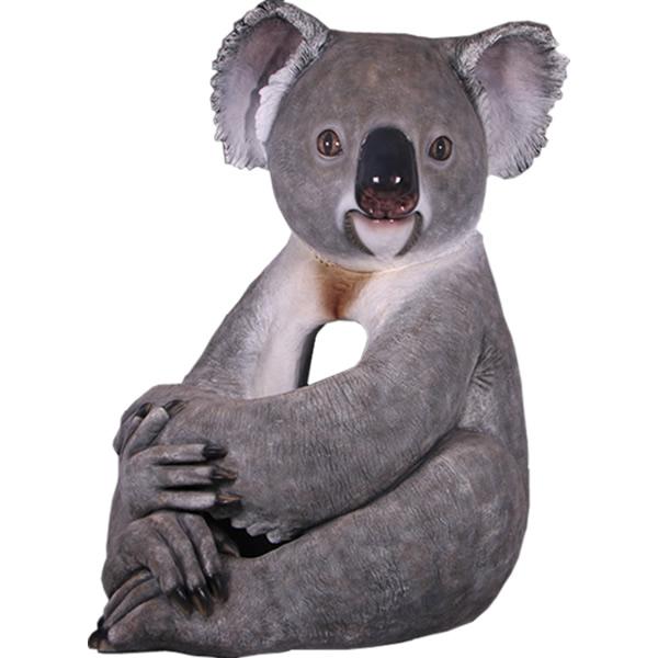 FRPアニマルオブジェ 抱きしめるコアラ 置物 動物 こあら 動物園 店舗 イベント ディスプレイ 実物大 等身大 リアル 【whlny】