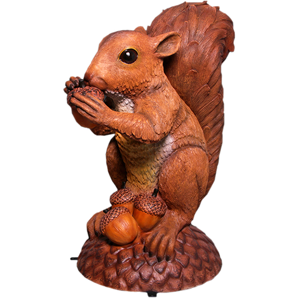 FRPアニマルオブジェ 巨大なリスの像 置物 動物 栗鼠 りす 動物園 店舗 イベント ディスプレイ 実物大 等身大 リアル 【whlny】