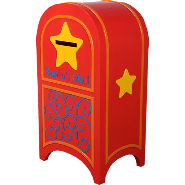 FRPオブジェ サンタの郵便ボックス 置物 ポスト 郵便受け クリスマス サンタクロース トナカイ 店舗 イベント ディスプレイ 実物大 等身大 リアル 【whlny】