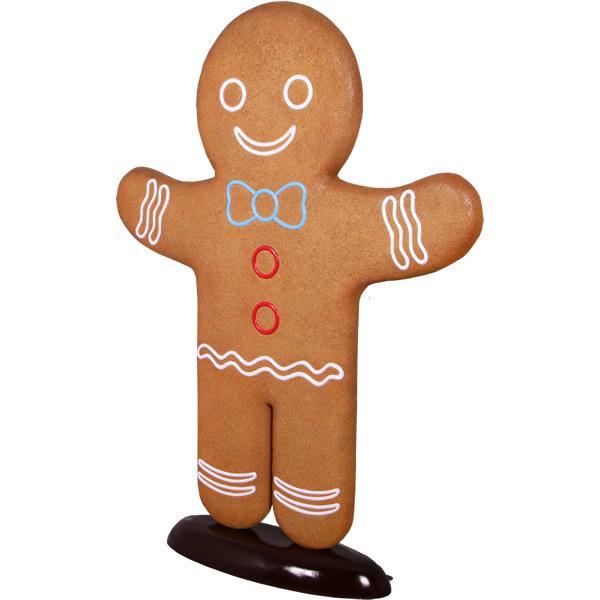 FRPオブジェ ジンジャーブレッド 置物 デザート 人形 クッキー 公園 店舗 イベント ディスプレイ 実物大 等身大 リアル 【whlny】