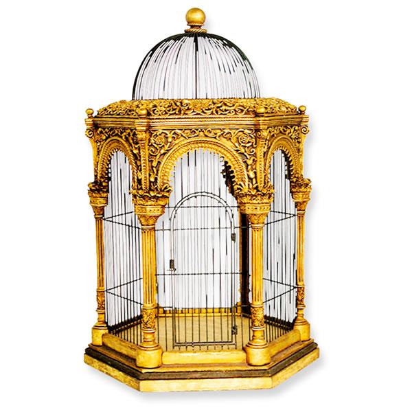 FRPオブジェ ムガル帝国の鳥かご 置物 鳥籠 カゴ 店舗 イベント ディスプレイ 実物大 等身大 リアル 【whlny】