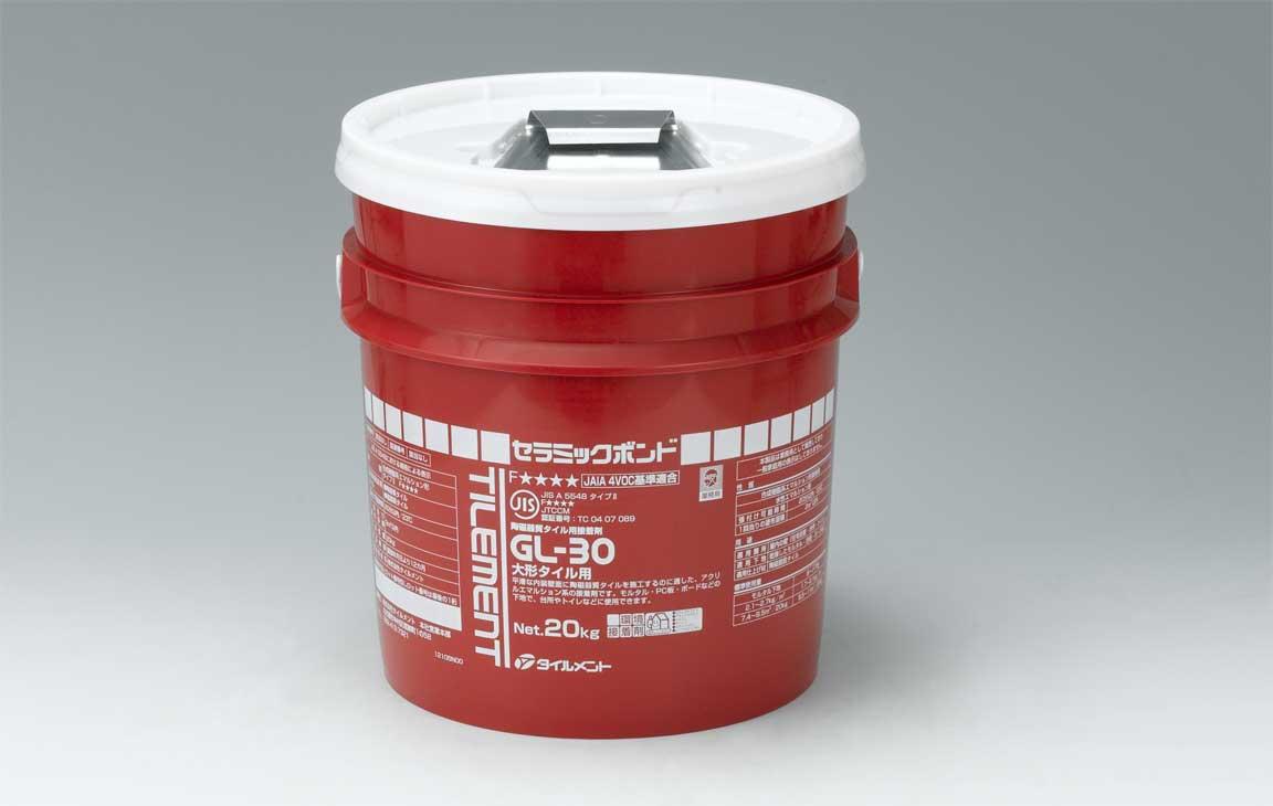 メーカー直送品【GL-30 20kgポリ容器 コテ付】タイルメント
