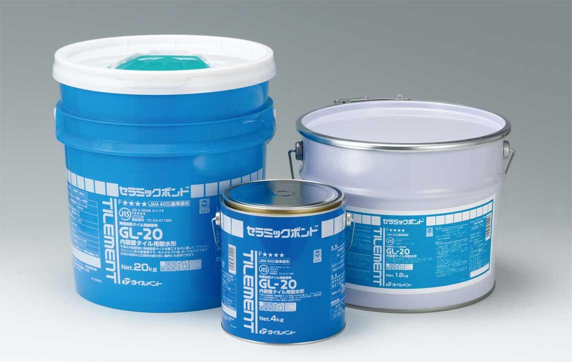 【GL-20 4kg缶×6セット コテ付】タイルメント