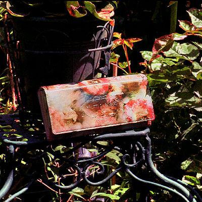 花の終わりの季節の色をアートレザーの長財布ALBA TALIA(アルバ ターリア) 財布 サイフ 長財布 レザー アートレザー レディース 女性用