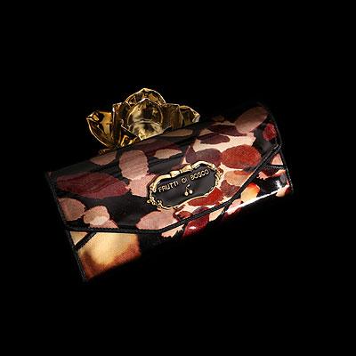 フルッティディボスコ Salu nightlamp Silver 財布 レディース 長財布 ギャルソン財布 エナメル アートレザー 個性的 ブラウン ゴールド