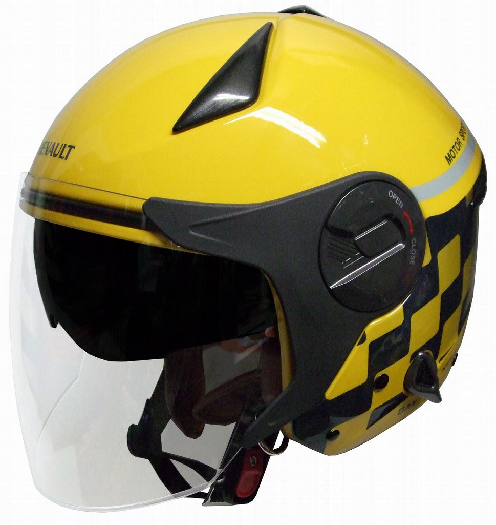 「当店人気No1」【RENAULT】ルノー Wシールドバイク用ヘルメット イエロー