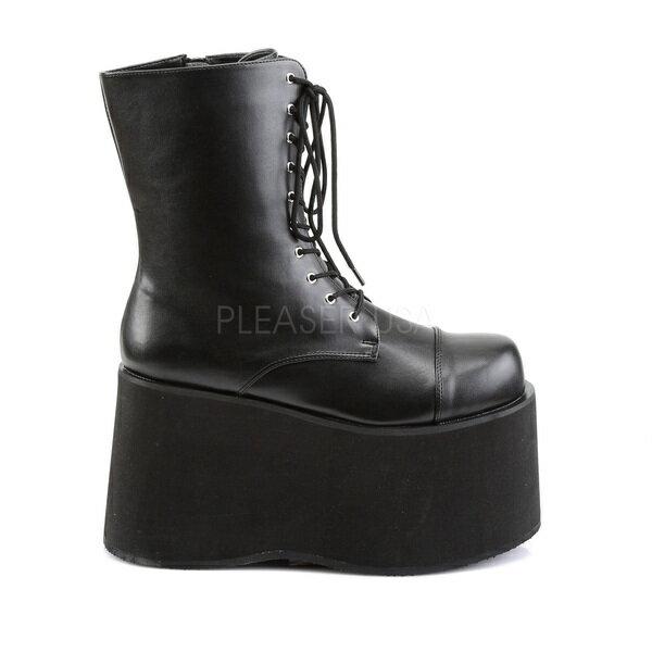 PLEASER【取り寄せ】ファンタズマ・品番:MONSTER-10/モンスター厚底ブーツ/メンズ/合皮ブラック/黒