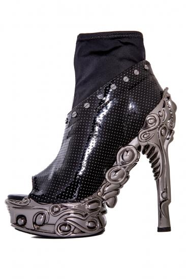 hades【即納】ヘイディーズ/hades footwear・品番:VALERIA/ヴァレリア/オープントゥーショートブーツ/ブラック/黒