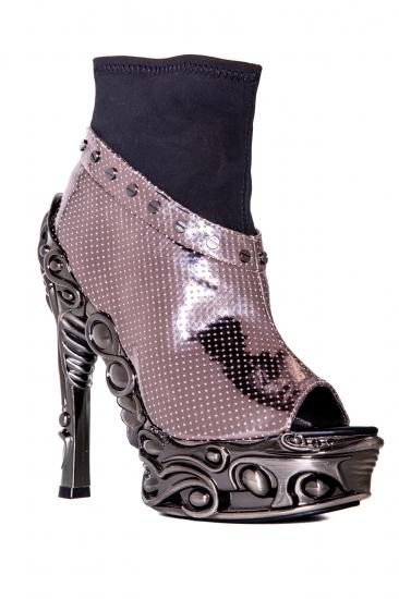 hades【取り寄せ】ヘイディーズ/hades footwear・品番:VALERIA/ヴァレリア/オープントゥーショートブーツ/ガンメタル