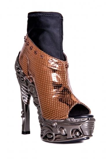 hades【即納】ヘイディーズ/hades footwear・品番:VALERIA/ヴァレリア/オープントゥーショートブーツ/ローズゴールド/メタルヒール/ブーツサンダル