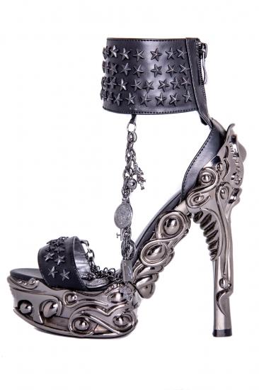 hades【取り寄せ】ヘイディーズ/hades footwear・品番:AVIUS/アヴュウス/オープントゥーショートブーツ/ブラック