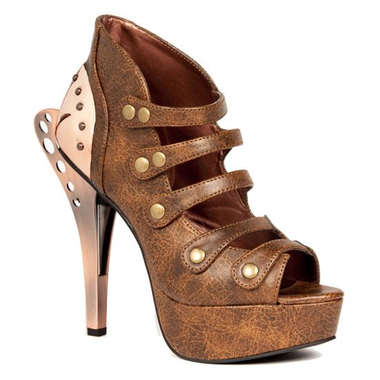 hades(ヘイディーズ)【取り寄せ】hades footwear・品番:VERA/ヴェラ/厚底オープントゥパンプス/ブラウン/茶