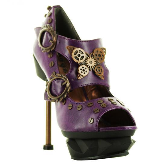 hades【取り寄せ】ヘイディーズ/hades footwear・品番:SKYCAPTAIN/スカイキャプティン/厚底デザインパンプス/紫/パープル