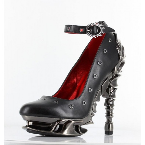 hades【即納】ヘイディーズ/hades footwear・品番:ZEPHYR/ゼファー/厚底パンプス/ブラック/黒/フェイクレザー