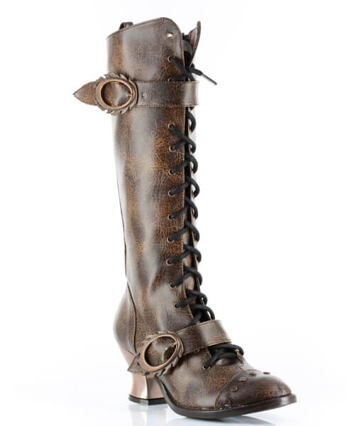 hades(ヘイディーズ)【即納】hades footwear/品番:VINTAGEA/ヴィンテージ/レザーロングブーツ/合皮ブラウン/茶