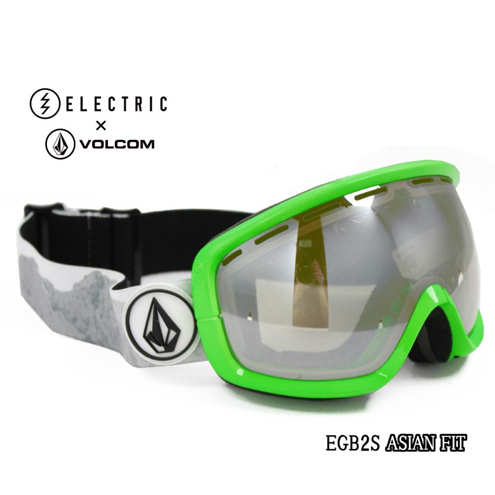 ELECTRICエレクトリック スノーボード スキーゴーグル「アジアンフィット EGB2s/V.CO-LABボルコムコラボ」CLEAR/SILVER CHROME EG6114450CSRC