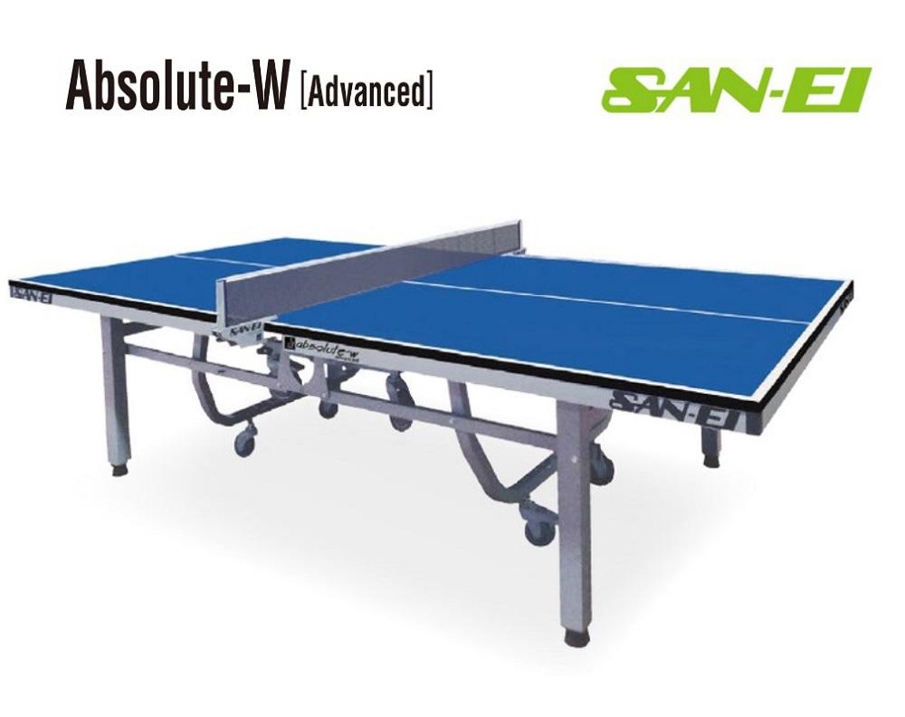 三英(サンエイ)卓球台内折タイプ「Absolute-W[Advanced]」(ブルー)14-332