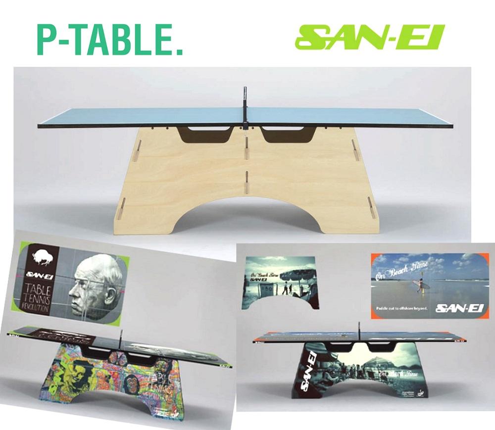 サンエイ三英SANEI卓球台「P-TABLE」M22(ブルー)10-960