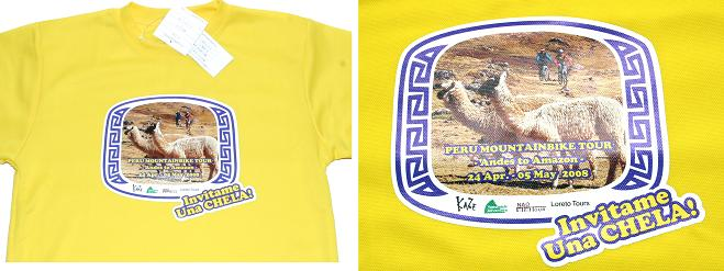 Full color printed t-shirts to make a t-shirt with absorbing sweat drying material