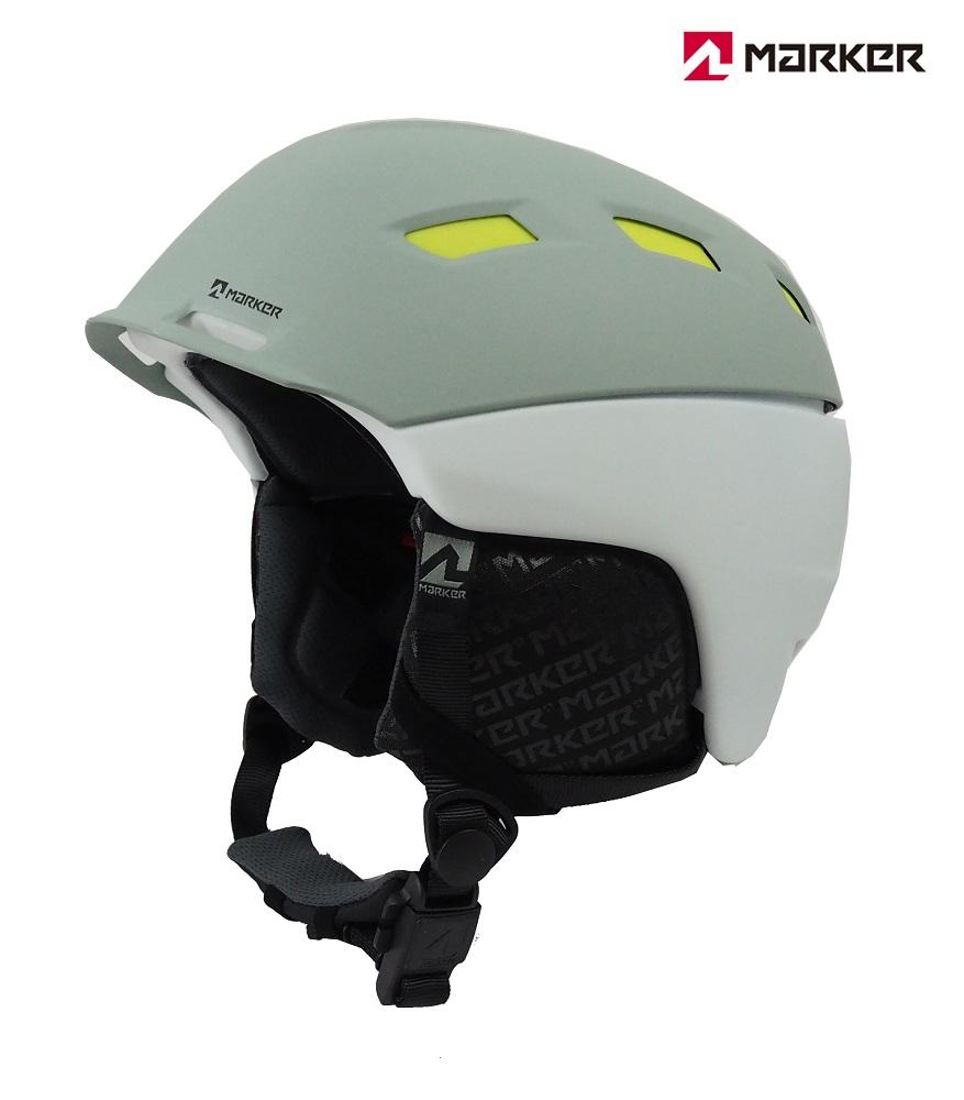 マーカーMARKERスノーヘルメット「AMPIRE MEN(アンパイアー)」2BLOCKホワイト