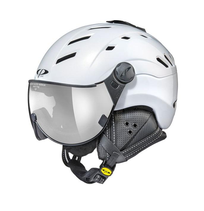 18/19 CP(シーピー)スキー、ウィンタースポーツ用バイザー付ヘルメット「CP CAMURAI(カムライ) PWS」パールホワイト(CPC1907)
