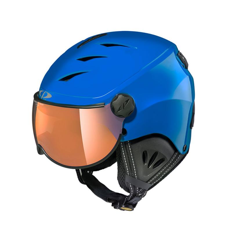 19/20 CP(シーピー)ジュニア子供用 スキー、ウィンタースポーツ用ゴーグル付ヘルメット「CP CAMULINO(カムリーノ)BSB」Jr.M ブルー(CPC1935)