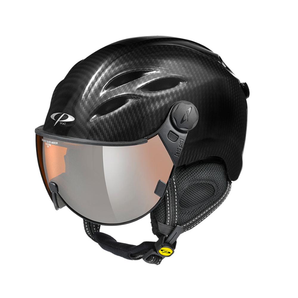 19/20 CP(シーピー)スキー、ウィンタースポーツ用バイザー付ヘルメット「CP CURAKO(クラコ) BCL」カーボンブラック(CPC2030)
