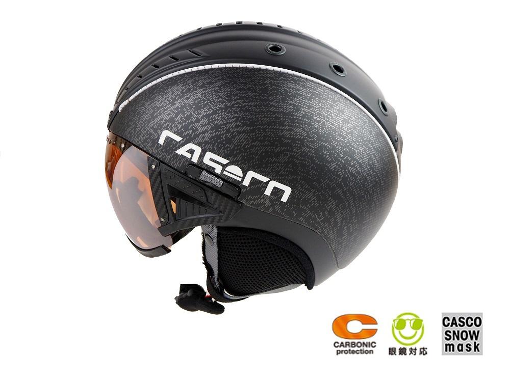 2018-2019 CASCO(カスコ)バイザー付スキーヘルメット「SP2 SNOWBALL VISORスノーボールバイザー」3702ブラック